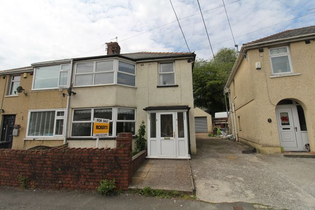 Thumbnail 3 bed semi-detached house for sale in Greenfield Crescent, Beaufort, Ebbw Vale