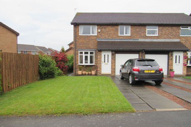 Thumbnail Semi-detached house for sale in Ingham Grove, Cramlington