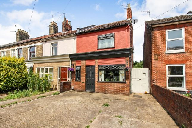 Thumbnail End terrace house for sale in Denmark Opening, Sprowston Road, Norwich