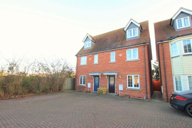 Thumbnail Terraced house to rent in Woden Avenue, Stanway, Colchester