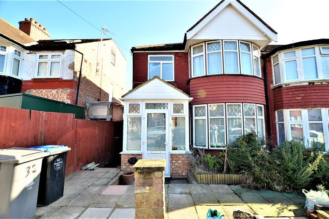 Thumbnail Semi-detached house to rent in Lancelot Crescent, Wembley