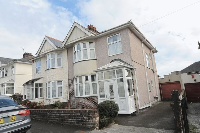 Thumbnail Semi-detached house for sale in St. Gabriels Avenue, Plymouth