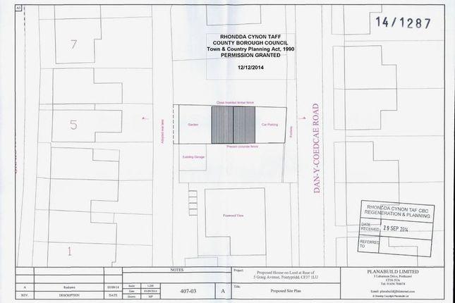 Thumbnail Land for sale in Graig Avenue, Graig, Pontypridd