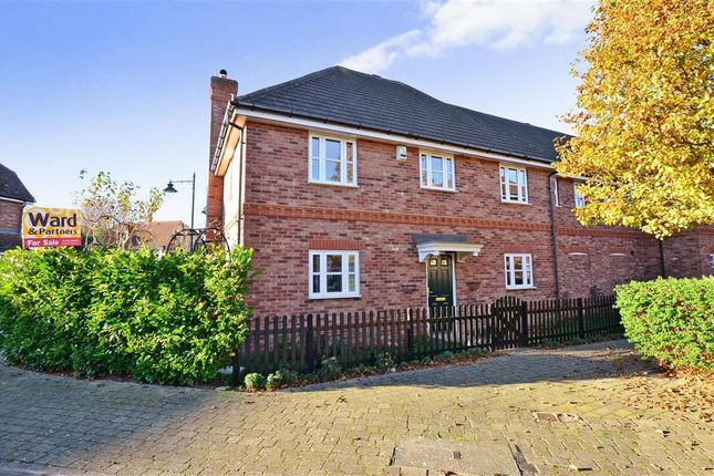 Thumbnail Semi-detached house for sale in Hawthornden Close, Kings Hill, West Malling, Kent
