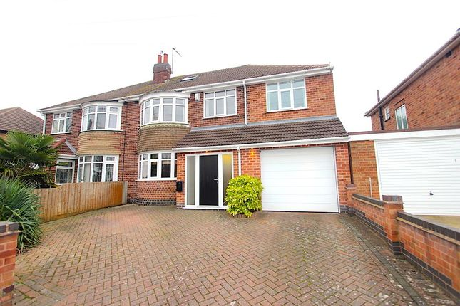 Thumbnail Semi-detached house for sale in Kingsway North, Braunstone, Leicester