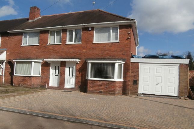 Thumbnail Semi-detached house to rent in Hathersage Road, Great Barr, Birmingham