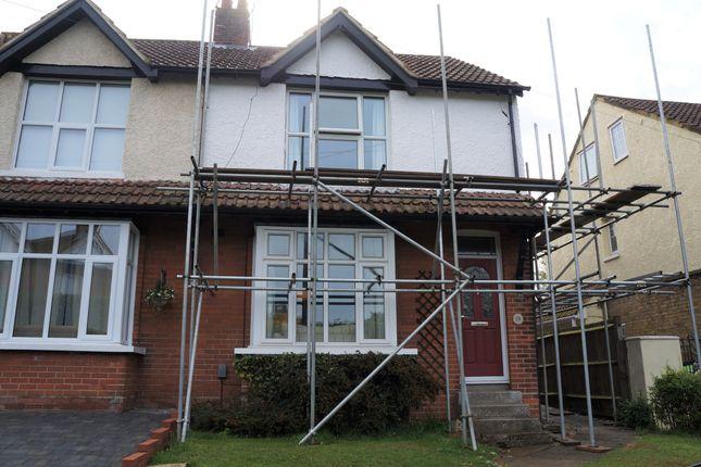 Thumbnail Semi-detached house to rent in Burton Road, Kennington, Ashford, Kent