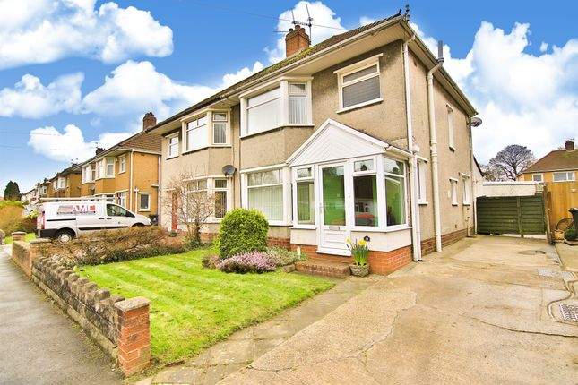 Thumbnail Semi-detached house for sale in Heol Cae Rhys, Rhiwbina, Cardiff