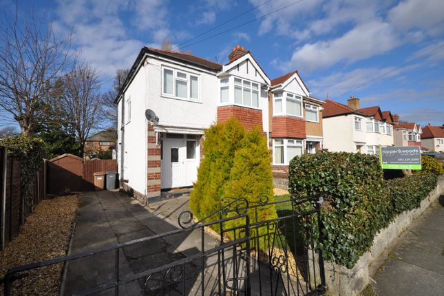 Thumbnail Semi-detached house for sale in Belmont Drive, Heswall, Wirral