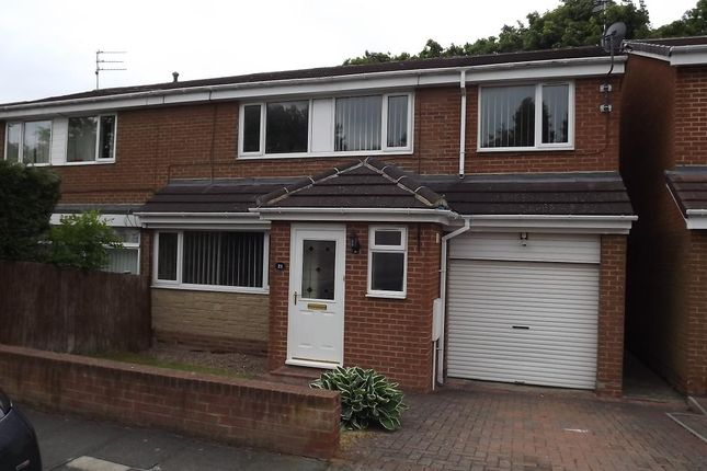 Thumbnail Semi-detached house to rent in Rochester Road, Newton Hall, Co Durham