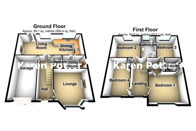 3d Floor Plans of Holywell Gardens, Birkdale, Southport PR8