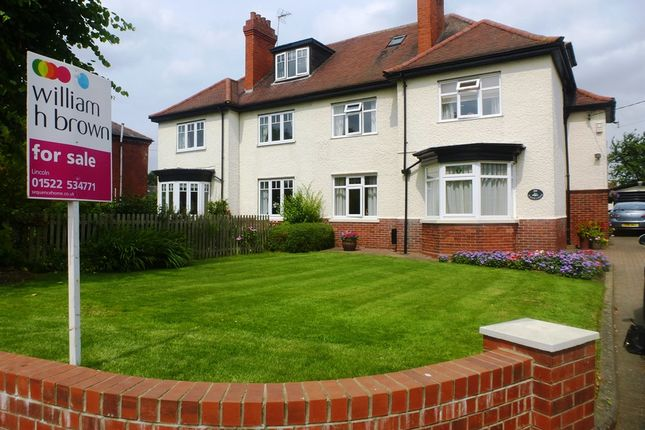 Thumbnail Semi-detached house for sale in Church Road, Saxilby, Lincoln