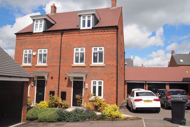 Thumbnail Semi-detached house to rent in Barnards Way, Kibworth Harcourt, Leicestershire