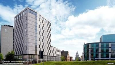 Thumbnail Hotel/guest house for sale in Part Complete Hotel Development, Portland Crescent, Leeds