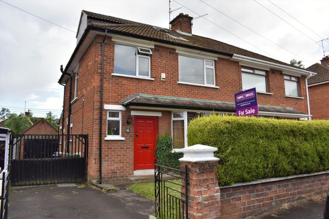 Thumbnail Semi-detached house for sale in Killeaton Crescent, Derriaghy, Belfast