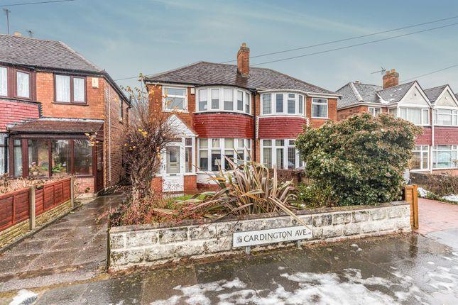 3 bed semi-detached house for sale in Cardington Avenue, Great Barr, Birmingham