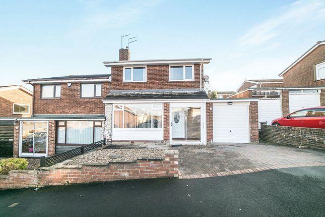 Thumbnail Semi-detached house for sale in Beweshill Crescent, Winlaton, Blaydon-On-Tyne
