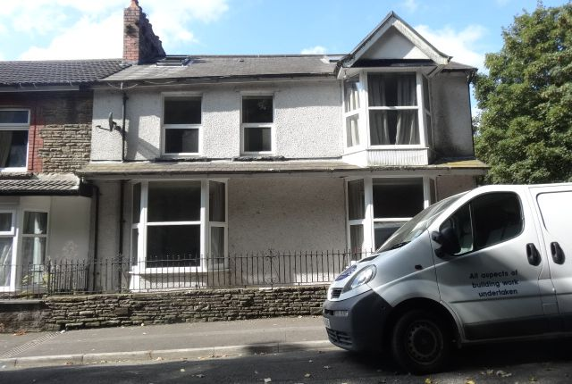 Thumbnail End terrace house to rent in Lawn Terrace, Treforest, Pontypridd