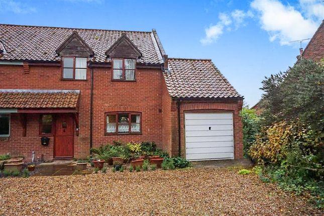Thumbnail Semi-detached house for sale in Blacksmiths Close, Wood Norton, Dereham