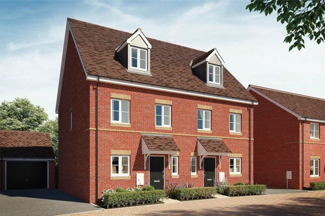 Thumbnail Town house for sale in The Rosewood, Greenway Place, Wixams, Bedford