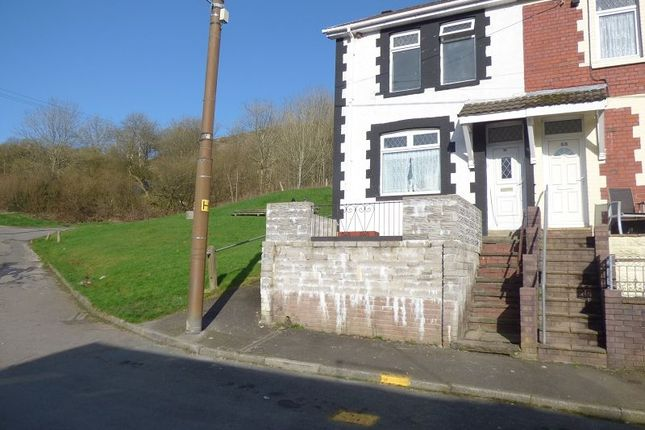 Thumbnail End terrace house for sale in The Avenue, Pontycymer, Bridgend.