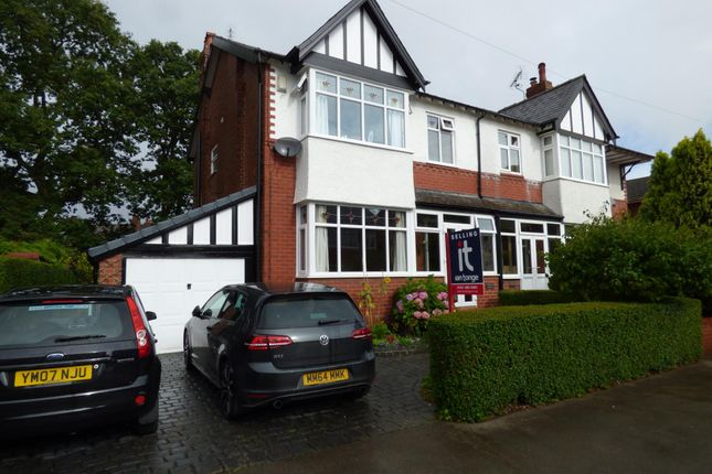 Thumbnail Semi-detached house for sale in Hazelwood Road, Stockport