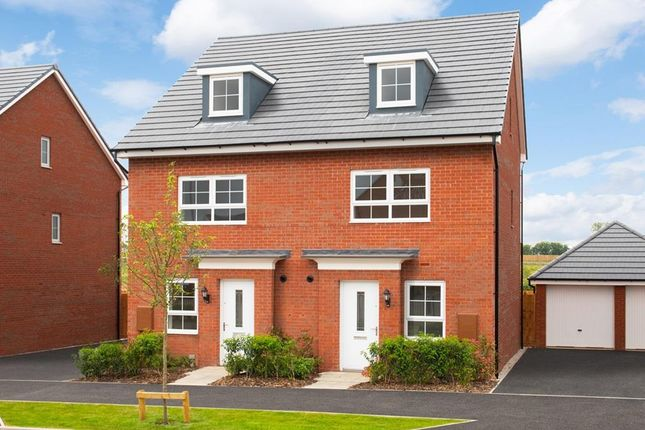 "Thumbnail Semi-detached house for sale in ""Kingsville"" at Harper Close, Warwick"