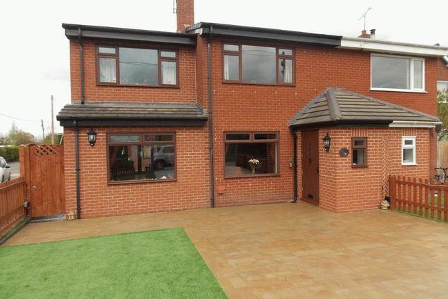 Thumbnail Semi-detached house for sale in Harwoods Lane, Rossett, Wrexham