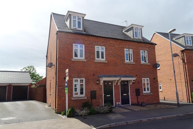 Thumbnail Semi-detached house for sale in Cornfield Close, Ellistown, Leicestershire