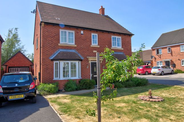 Thumbnail Detached house for sale in Abbott Drive, Stoney Stanton, Leicester