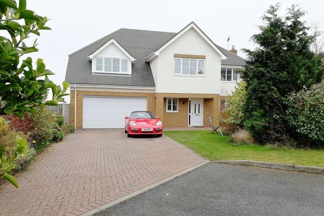Thumbnail Detached house for sale in Cwrt Gwyntog, Trelogan, Holywell