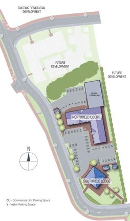 Site Plan of Southfield Parade, Maresfield Road, Barleythorpe LE15