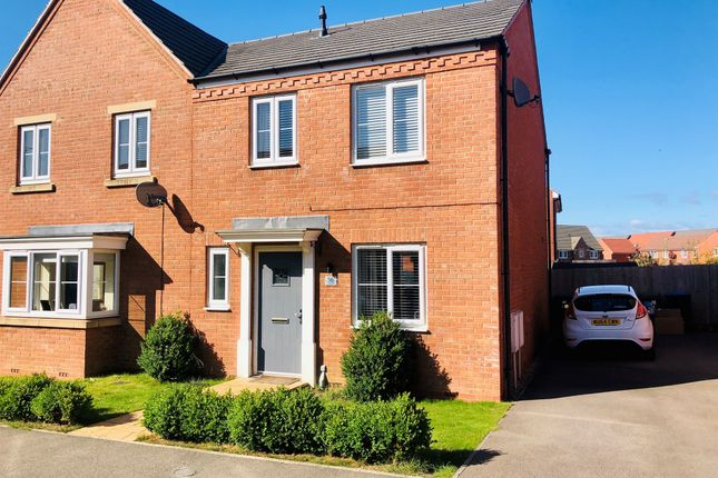 Thumbnail Semi-detached house for sale in Freshman Way, Market Harborough