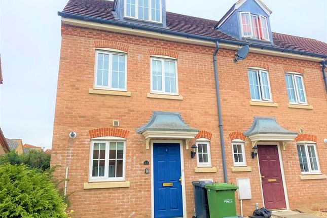 Thumbnail End terrace house to rent in Thorn Road, Hampton Hargate, Peterborough