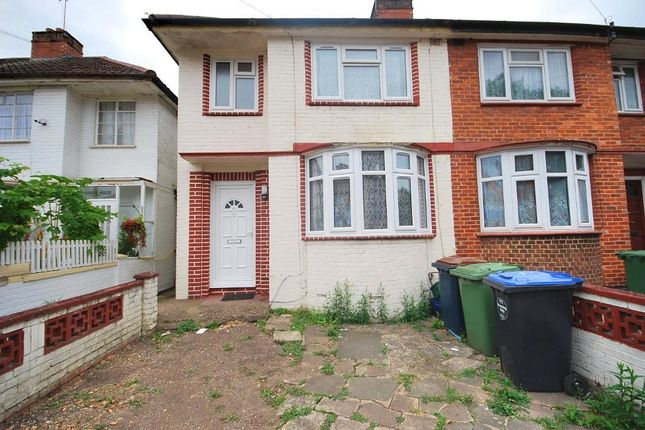3 bed end terrace house to rent in Hazel Grove, Wembley, Middlesex HA0