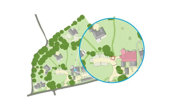 Site Plan of 6 The Manor House, The Beeches, Malpas, Cheshire SY14