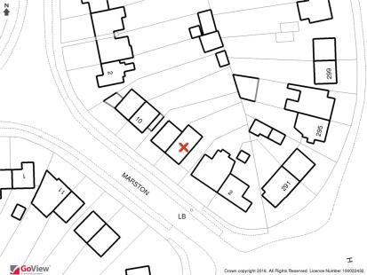 Plot Map of Marston, Epsom KT19