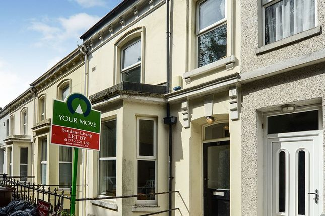 Thumbnail Terraced house to rent in Houndiscombe Road, Plymouth