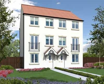 """Thumbnail Town house for sale in """"The Greyfriars"""" at Haggerston Road, Blyth"""