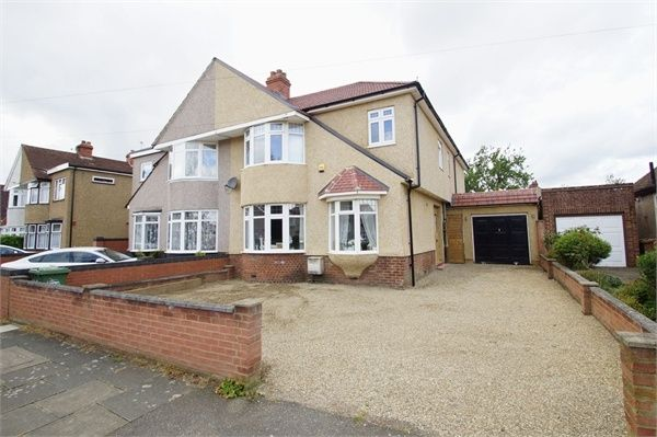 Thumbnail Semi-detached house for sale in Montrose Avenue, Sidcup, Kent