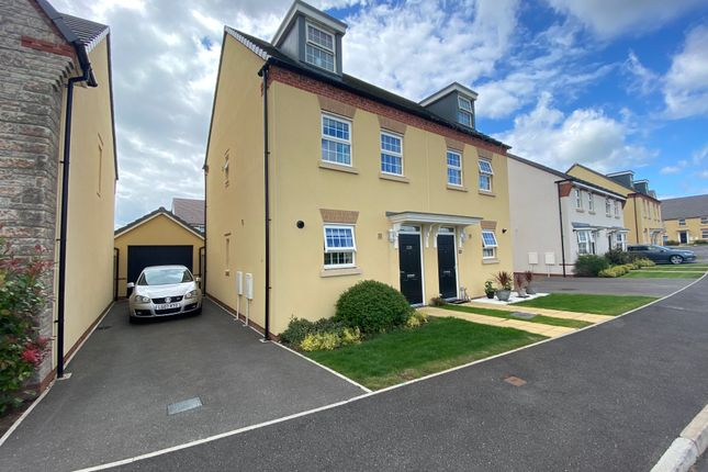 Thumbnail Semi-detached house to rent in Dorset Down Crescent, Cullompton