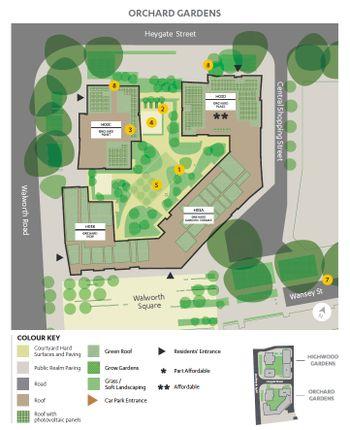 Site Plan of Walton Heights, Elephant Park, Elephant & Castle SE17
