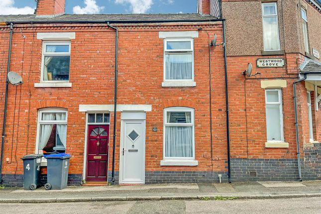 2 bed terraced house for sale in Westwood Grove, Leek, Staffordshire ST13