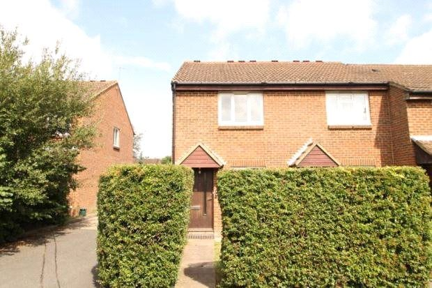 Thumbnail End terrace house to rent in Elder Close, Guildford, Surrey