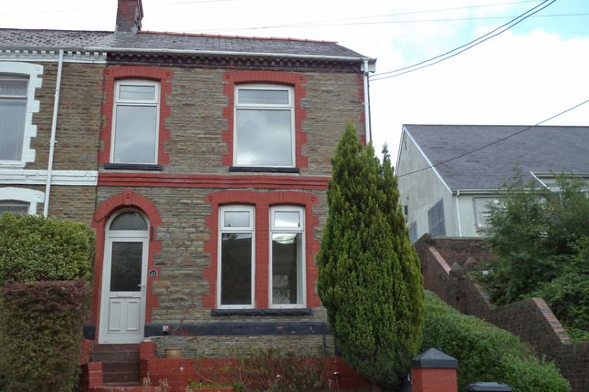 Thumbnail End terrace house to rent in Dyffryn Road, Waunlwyd, Ebbw Vale
