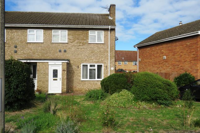 Thumbnail Semi-detached house to rent in Blackbird Road, Beck Row, Bury St. Edmunds