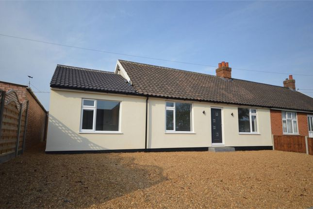 Thumbnail Semi-detached bungalow for sale in Beaumont Road, New Costessey, Norwich
