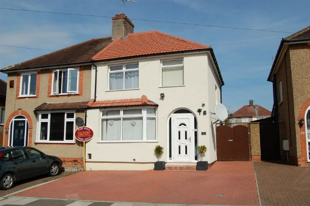 Thumbnail Semi-detached house for sale in Fullingdale Road, The Headlands, Northampton