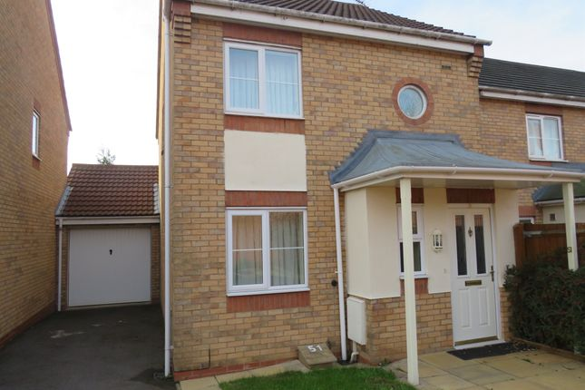 Thumbnail Link-detached house for sale in Murby Way, Thorpe Astley, Leicester