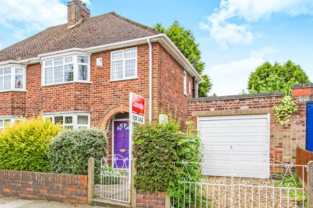 Thumbnail Semi-detached house for sale in Lindfield Road, Western Park, Leicester